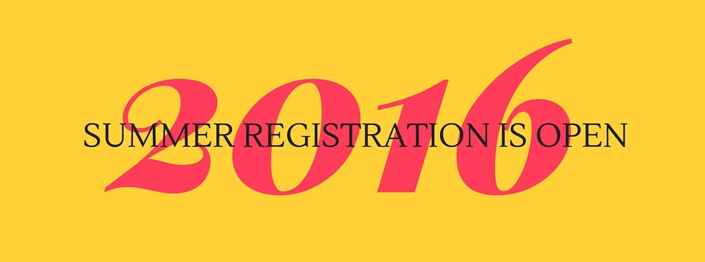 Summer registration is open